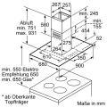 Siemens LF98GA542 Insel-Dunstabzugshaube iQ500/ Energieeffizienzklasse A