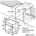 Neff BVR5522N / B55VR22N0 Elektro-Einbaubackofen/ Energieeffizienzklasse A+