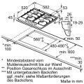 Bosch PCH6A5C90D Gaskochfeld Edelstahl