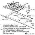 Bosch PRR7A6D70D Gaskochfeld Glaskeramik