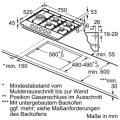 Neff TDS2779N / T27DS79N0D Gaskochfeld Edelstahl
