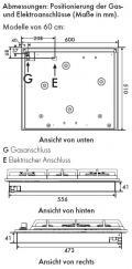 Smeg PX364LDE Gaskochfeld Edelstahl