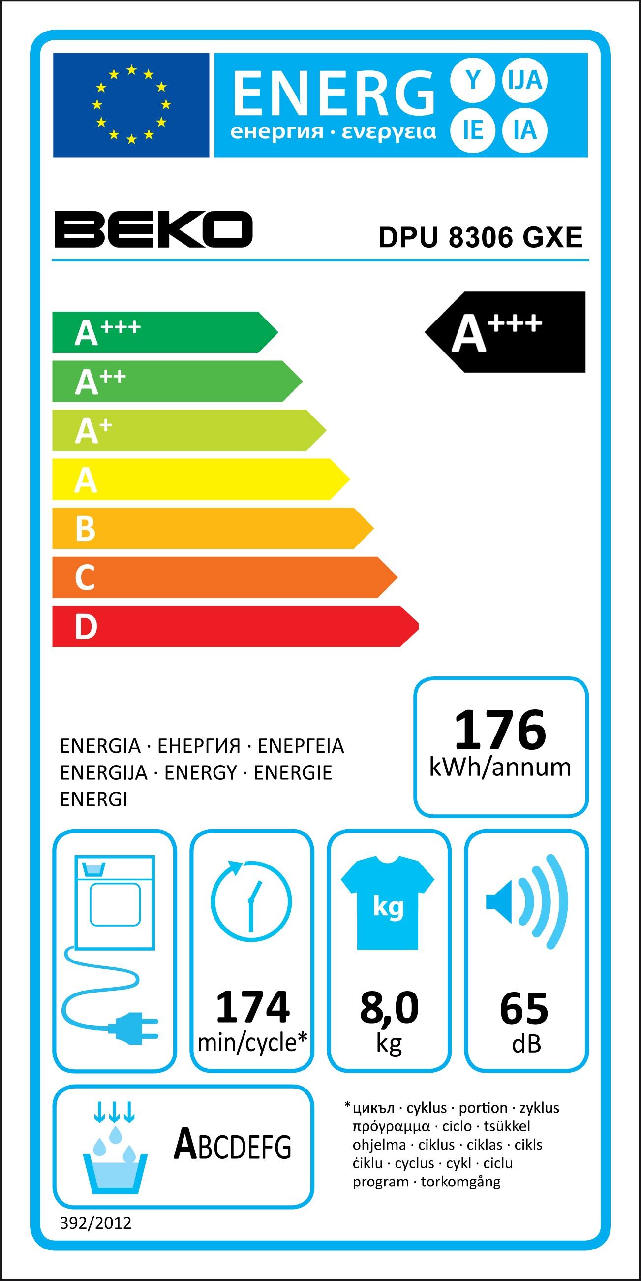 beko dpu 8306 gxe w rmepumpen w schetrockner energieeffizienzklasse a. Black Bedroom Furniture Sets. Home Design Ideas